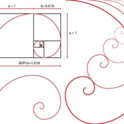 golden ratio spiral vector graphic tool free
