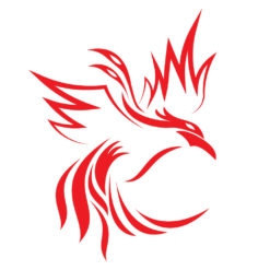 phoenix logo design icon vector