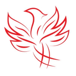 phoenix logo design vector icon