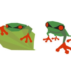 frog origami design logo icon vector