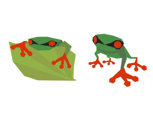 frog origami design logo icon vector