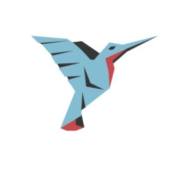 Hummingbird origami design logo icon vector colibri