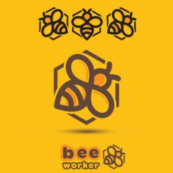 bee design logo icon vector