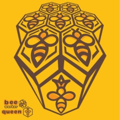 bee design queen bee logo icon vector