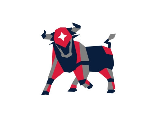 bull origami design logo icon vector