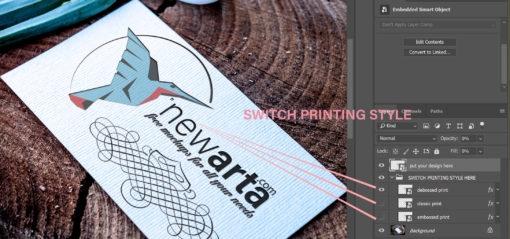 FREE MOCKUP business card on wood mockup