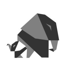 elephant origami design logo icon vector