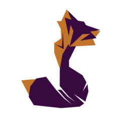 fox origami design logo icon vector