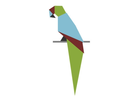 parrot origami design logo icon vector