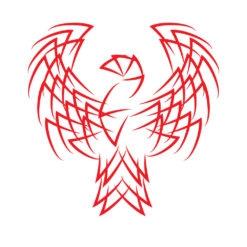 phoenix logo icon design graphic vector