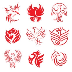 phoenix logo icon design graphic vector